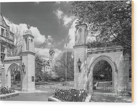 Indiana University Sample Gates Wood Print