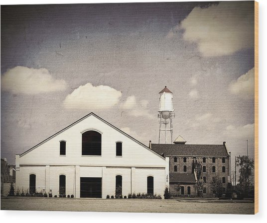 Indiana Warehouse Wood Print