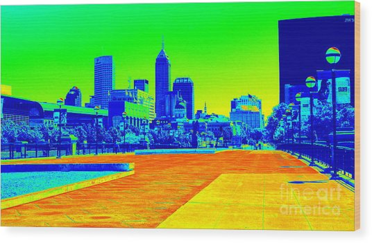 Indianapolis Heat Tone Wood Print