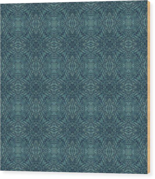 Indigo Diamond Cross Pattern 24in Wood Print