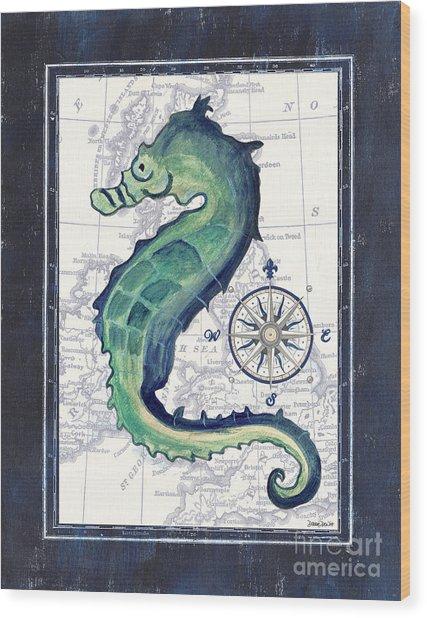 Indigo Maritime 2 Wood Print