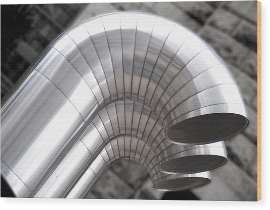 Industrial Air Ducts Wood Print