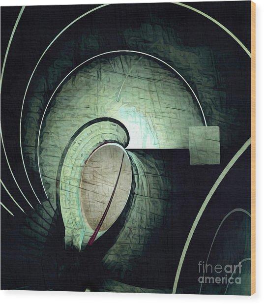 Industrial Arch Grey Wood Print