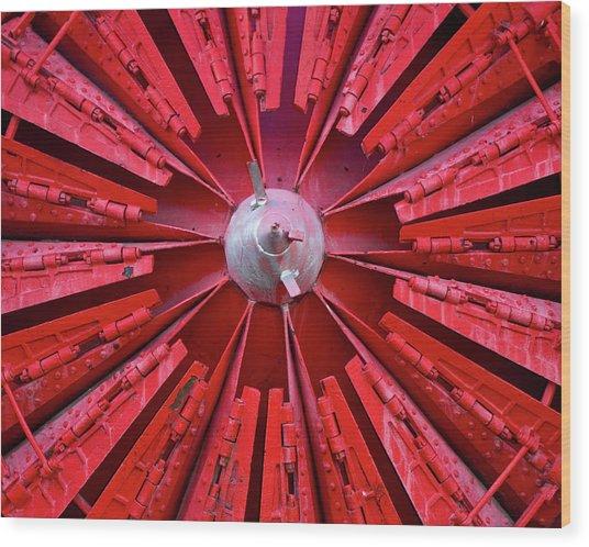Industrial Bloom Wood Print by Elizabeth Richardson
