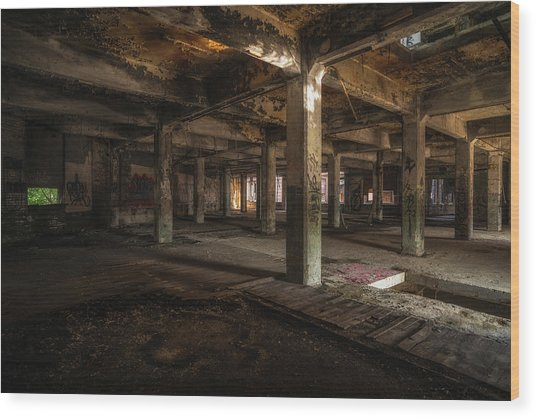 Industrial Catacombs Wood Print