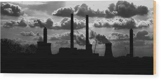 Industrial Night Wood Print