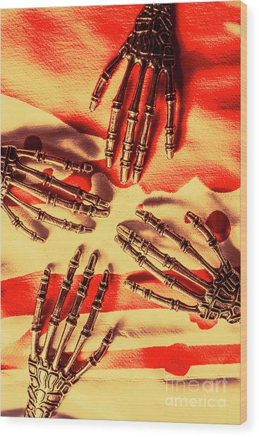 Industrial Death Machines Wood Print