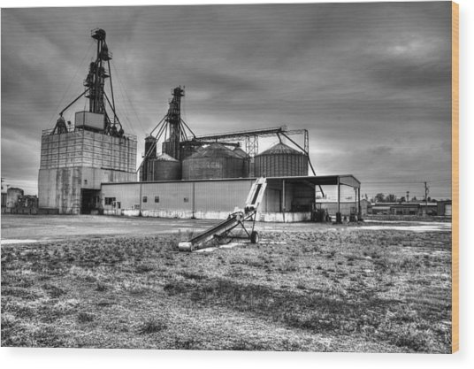 Industrial Grainery Complex Wood Print