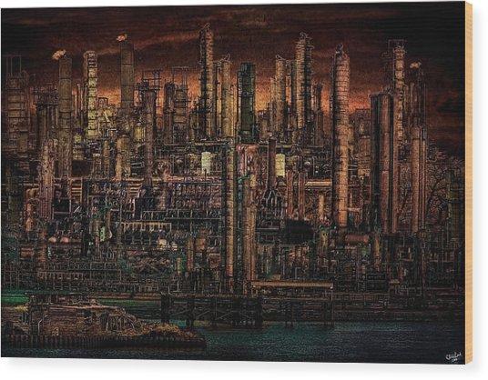 Industrial Psychosis Wood Print