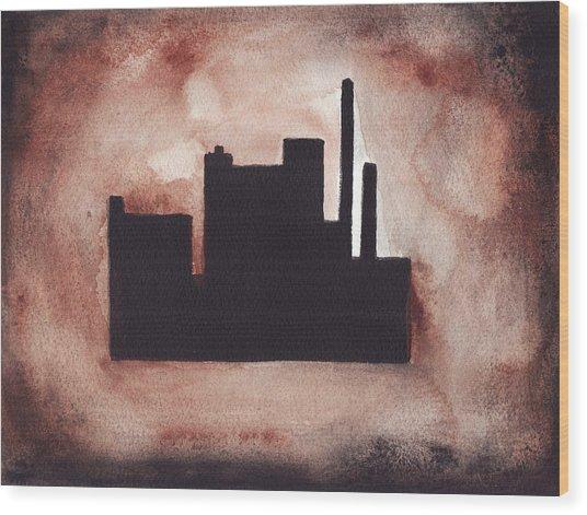 Industry City Wood Print
