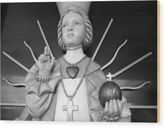 Infant Of Prague Wood Print