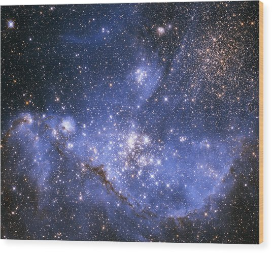 Infant Stars In The Small Magellanic Cloud  Wood Print