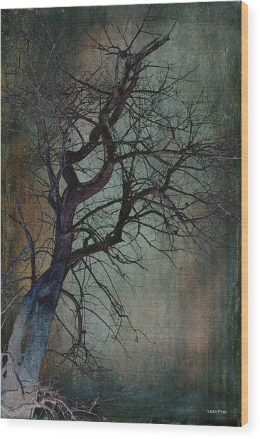 Infared Tree Art Twisted Branches Wood Print