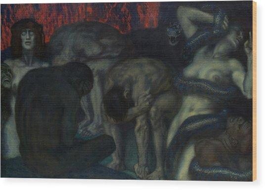 Inferno Wood Print