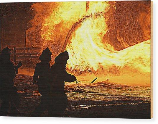 Inferno Wood Print by John Ungureanu