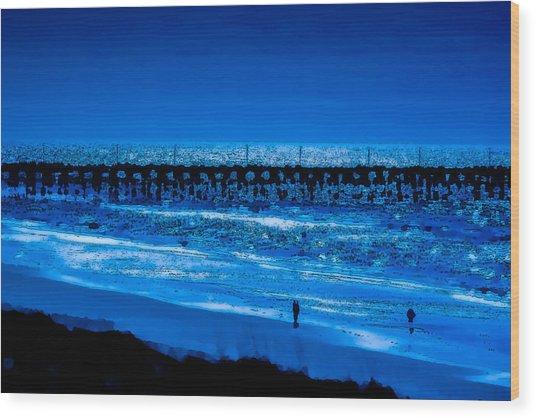 Infinite Blue Wood Print