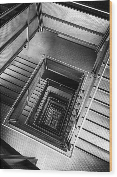 Infinite Well Wood Print