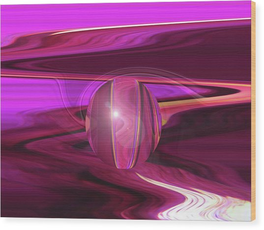Infinity And Beyond - Abstract Iris Photography Wood Print