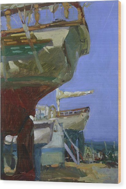 Infinity Awaiting Winter - Plein Air Catalina Island Wood Print