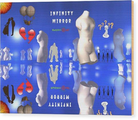 Infinity Mirror Wood Print