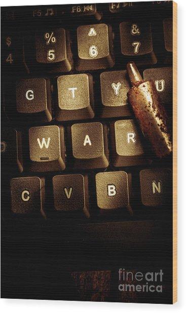 Information War Wood Print