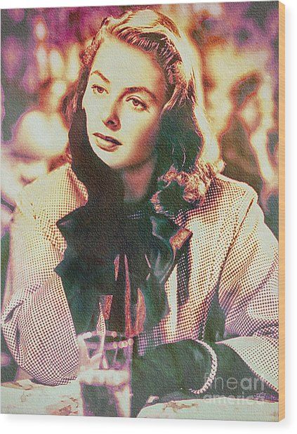 Ingrid Bergman - Movie Legend Wood Print