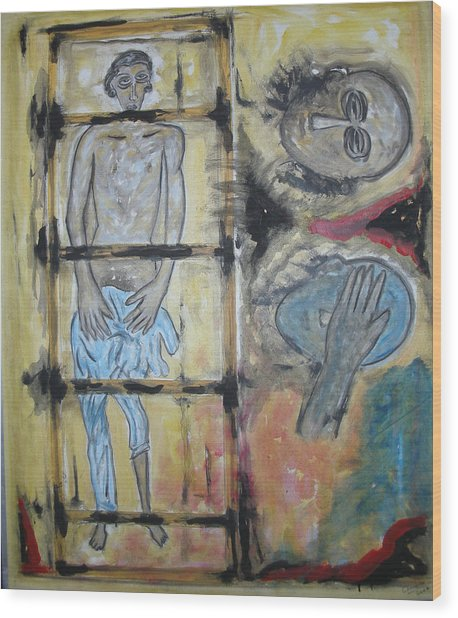 Inhumanity Wood Print by Narayanan Ramachandran