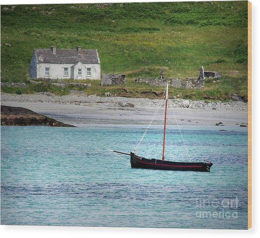 Inishbofin Boat Wood Print