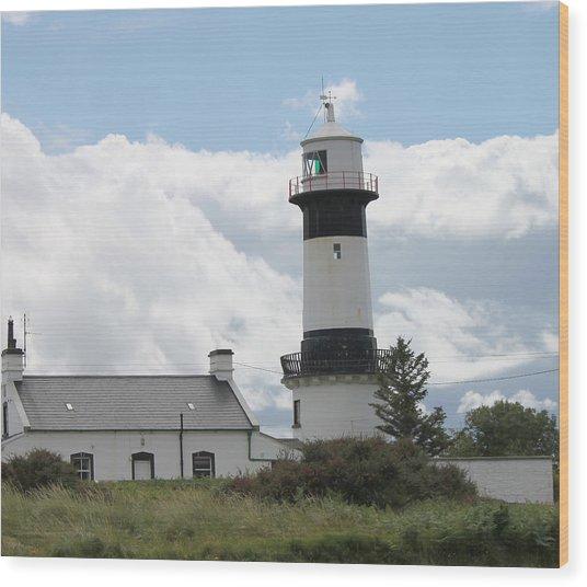 Inishowen Lighthouse Wood Print
