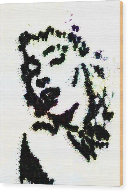 Ink Blot Monroe Wood Print by Arianna Trombley