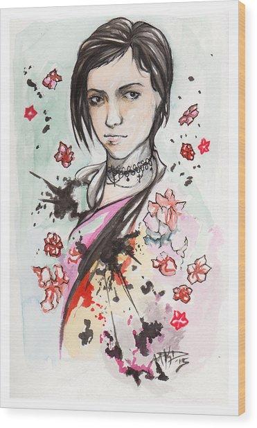 Ink Blots Wood Print by Miguel Karlo Dominado