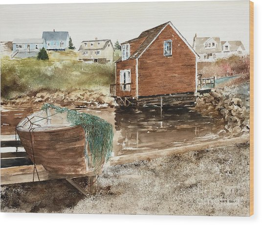Inlet At Peggy's Cove Wood Print