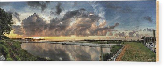Inlet Sunrise Panorama Wood Print