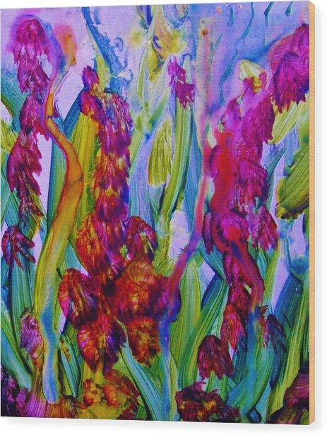 Inner Earth Garden Wood Print