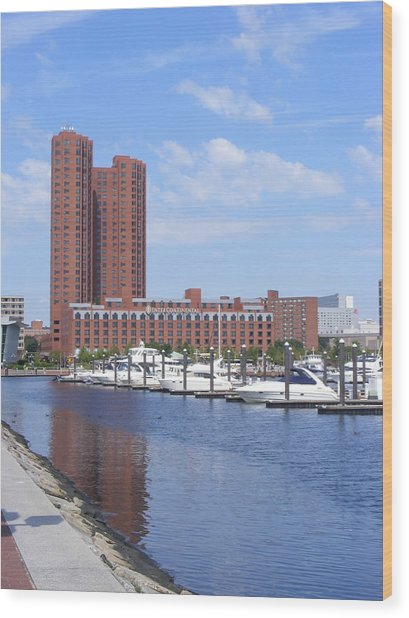 Inner Harbor Wood Print by James and Vickie Rankin