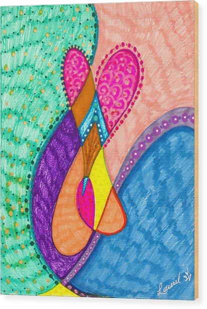 Inner Heart - V Wood Print