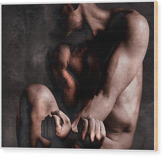 Inner Struggle Wood Print by Geoff Ault
