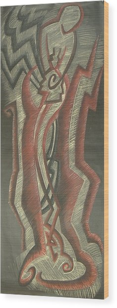 Inner Turmoil  Original Wood Print by Donald Burroughs