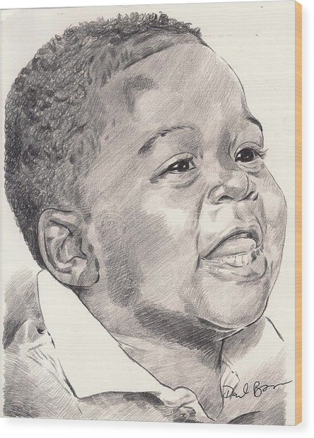 Innocence Wood Print by Darryl Barnes