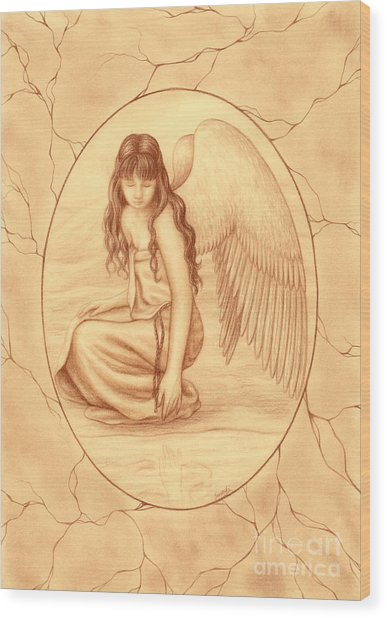 Innocence Wood Print by Enaile D Siffert