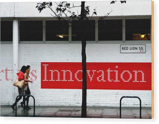 Innovative Red Wood Print by Jez C Self