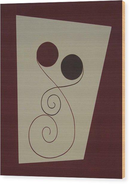 Inseparable Wood Print by Sandy Bostelman