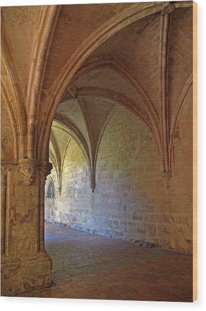 Inside A Monastery Dordogne France  Wood Print