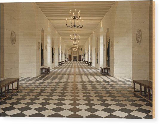 Inside Chenonceau Wood Print