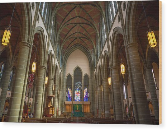 Inside Christchurch Cathedral Wood Print
