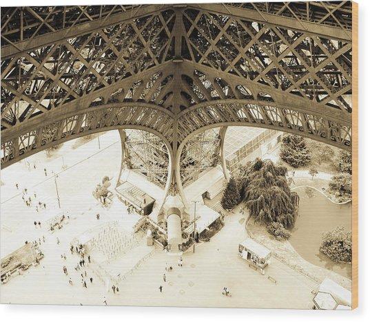 Inside Eiffel Wood Print by Patrick Rabbat