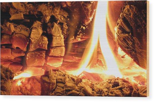 Inside Fire Wood Print
