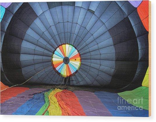 Inside The Balloon Wood Print