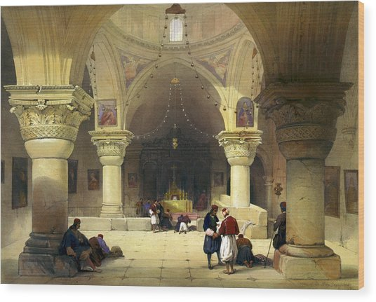 Inside The Church Of The Holy Sepulchre In Jerusalem Wood Print