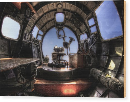 Inside The Flying Fortress Wood Print